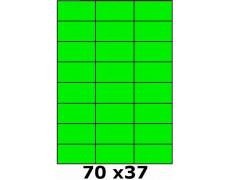 Étiquettes 70 x 37 vert fluo