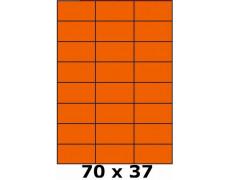 Étiquettes 70 x 37 orange fluo