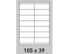 Étiquette 105 x 39