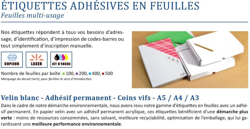 pour impression Laser et Jet dencre 25 planches papier A4 adh/ésif couleur 600 /étiquettes autocollantes Vert fluo de 70 X 37 mm 24 /étiquettes // feuille